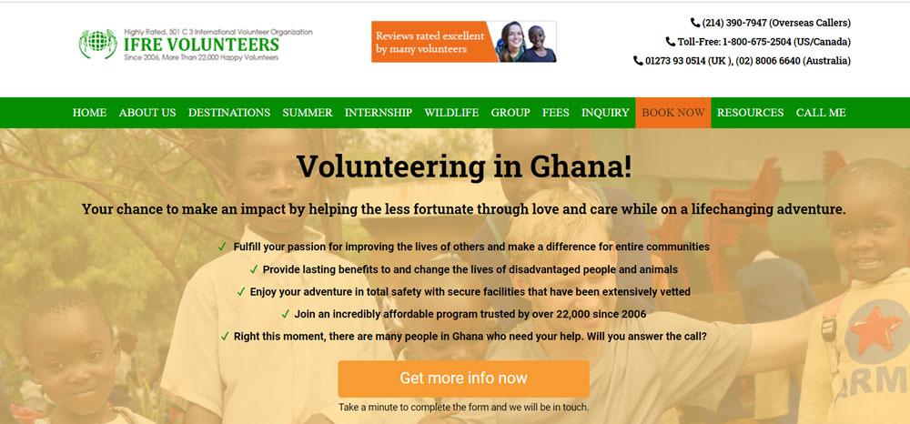 IFRE Volunteers Ghana