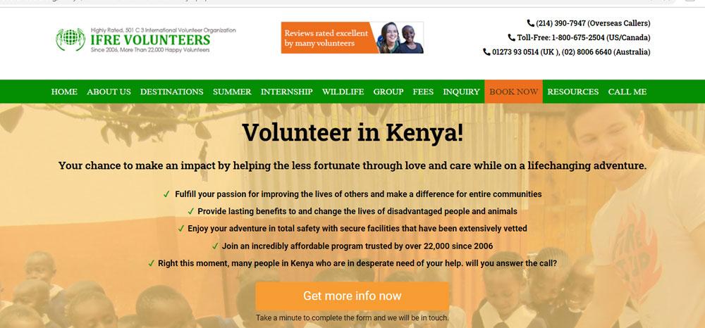 Volunteer in Kenya with IFRE Volunteers