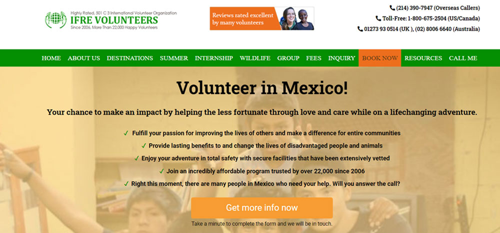 IFRE Volunteers Mexico