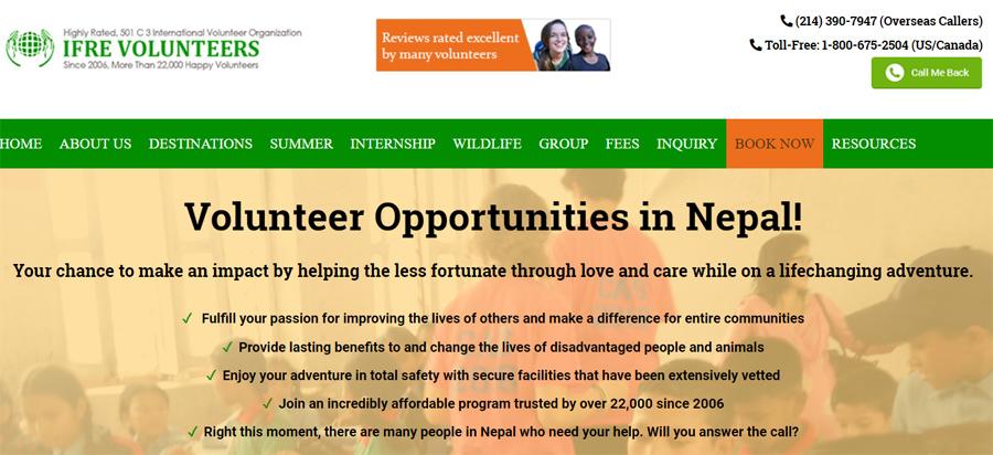 IFRE volunteer nepal