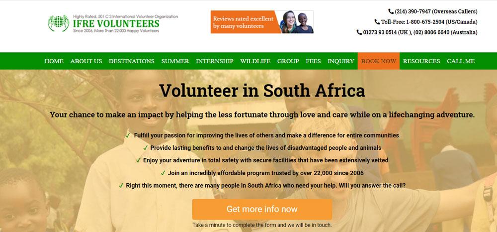Volunteer in South Africa with IFRE Volunteers