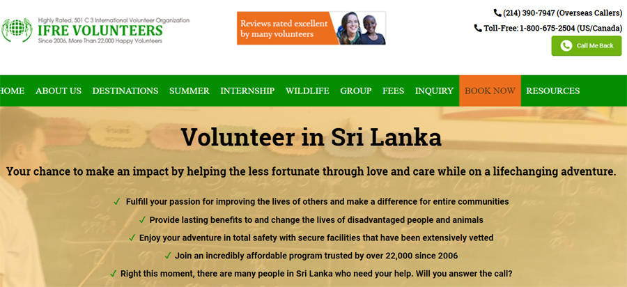 ifre volunteer sri lanka