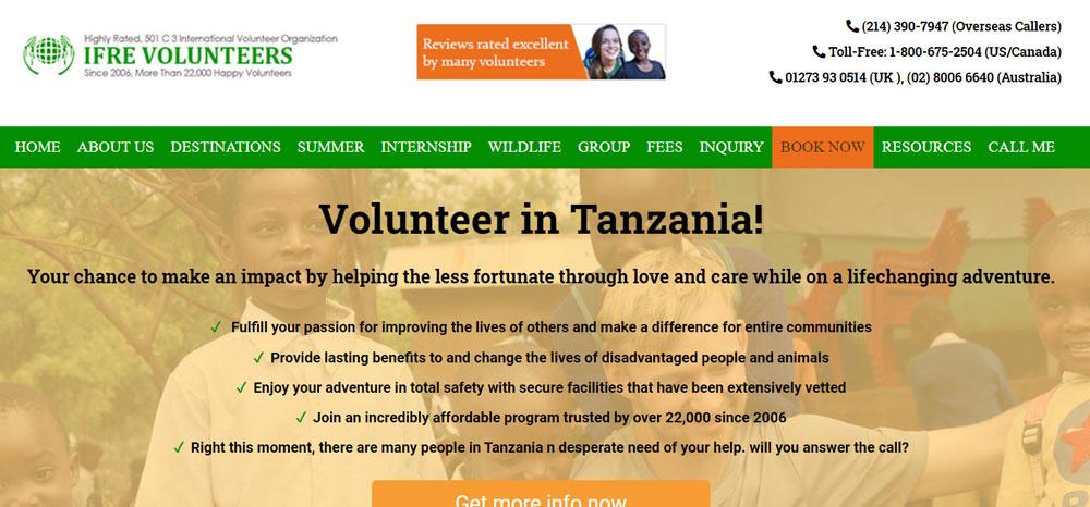 IFRE Volunteers Tanzania