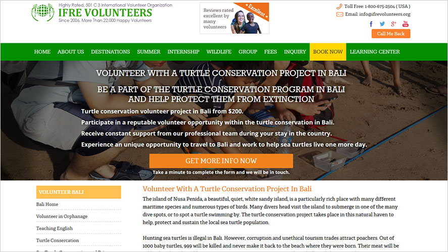 Turtle conservation IFRE Volunteers