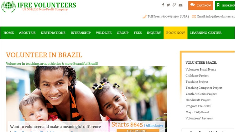 ifre volunteer in brazil