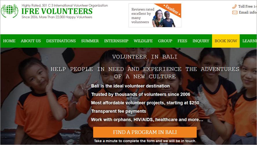 Best Volunteer Opportunities In Bali by IFRE