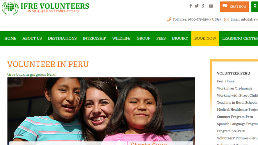 Top inexpensive volunteering in peru by IFRE