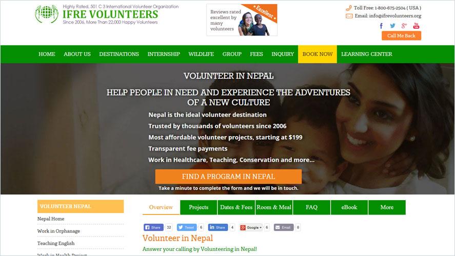 Best Volunteer Opportunities In Nepal by IFRE