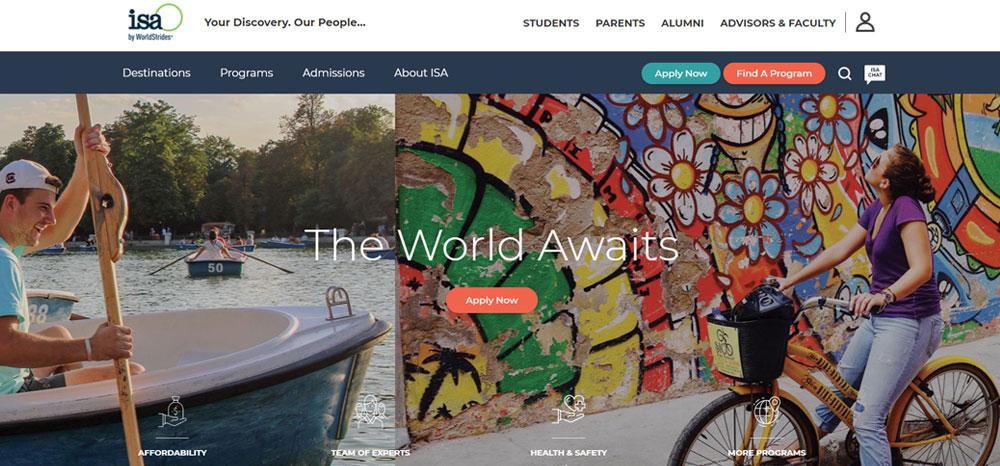High school volunteer abroad with ISA International Studies Abroad