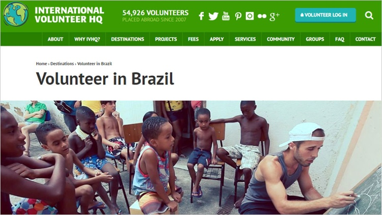 ivhq volunteer in brazil