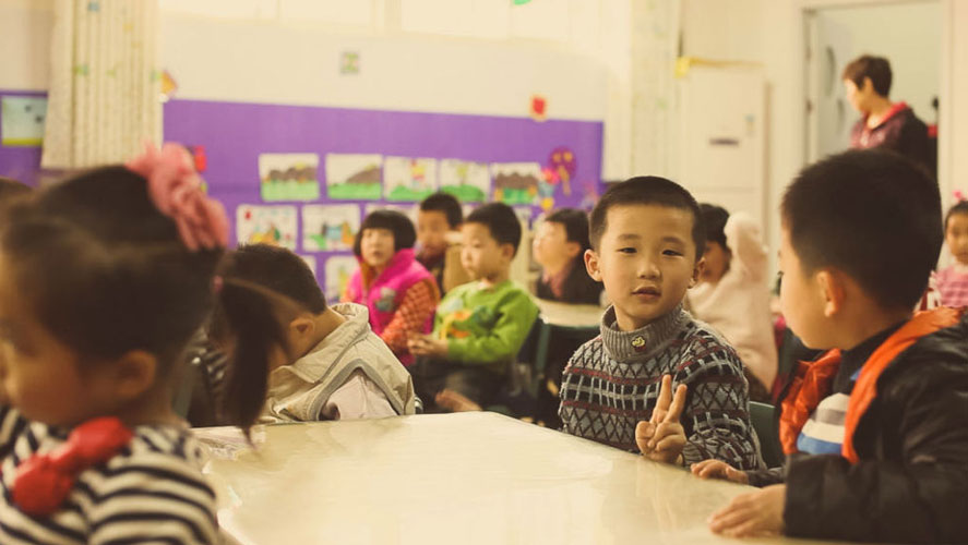 IVHQ's happy volunteering with children of China