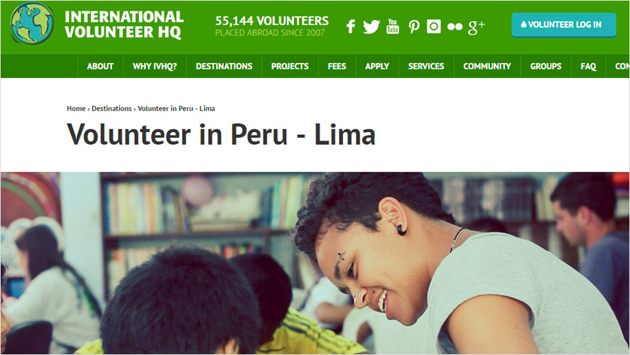 IVHQ Top budget volunteering peru projects
