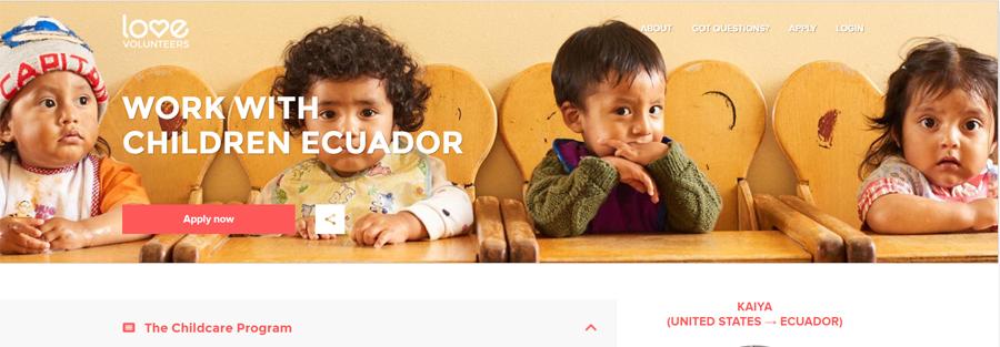 love volunteer work in ecuador