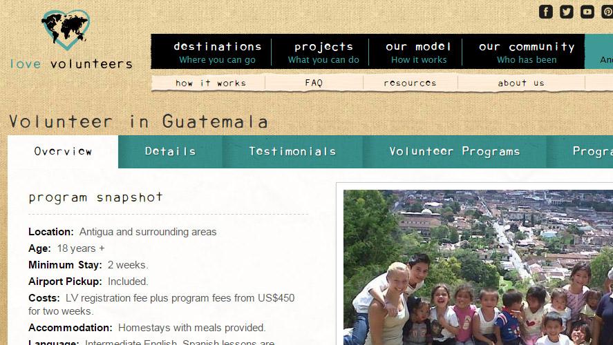 Love Volunteers Guatemala Volunteering Opportunities