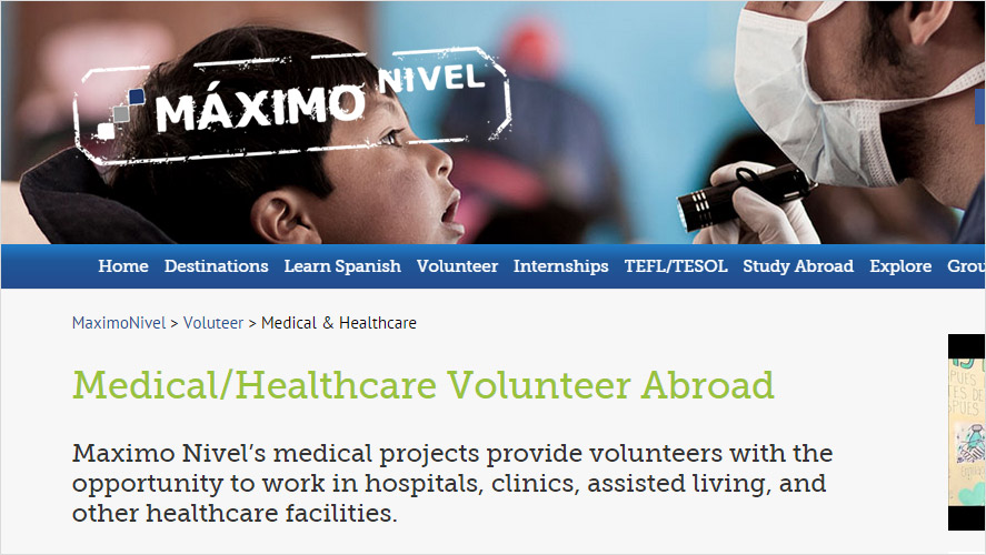 Maximo Nivel Volunteering in Healthcare Costa Rica Projects