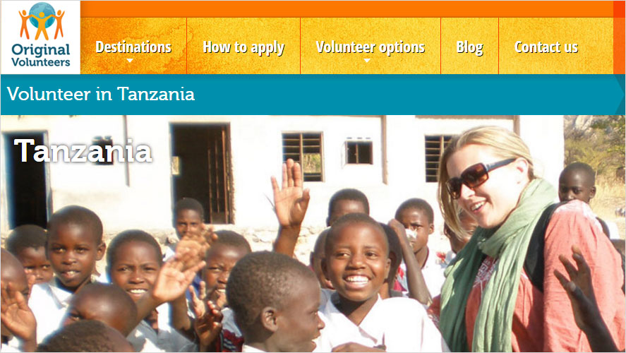 Original Volunteers Inexpensive volunteer opportunities in Tanzania