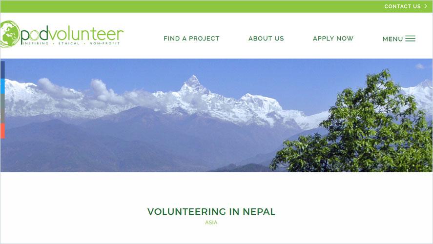 Best Volunteer Opportunities In Nepal by POD