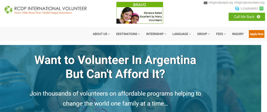rcdp argentina volunteer project