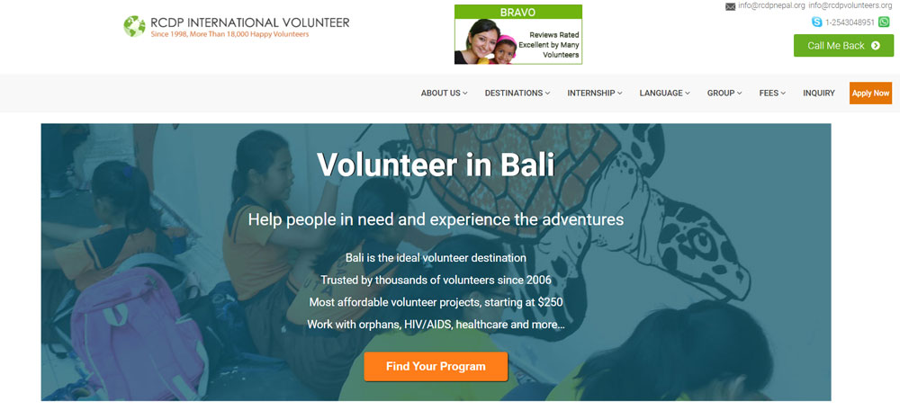 volunteer in Bali with RCDP Voluneteers