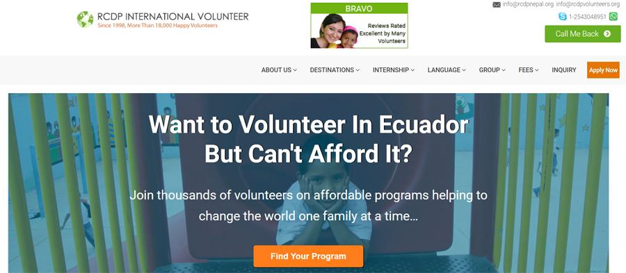 rcdp volunteer opportunities ecuador
