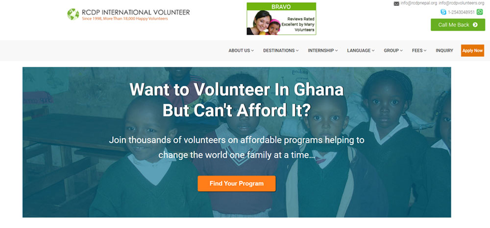 RCDP INternational Volunteer Ghana