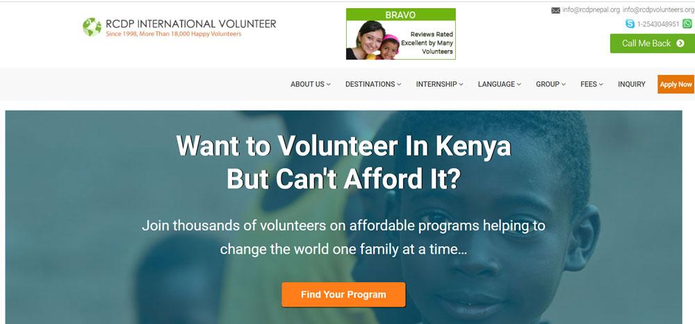volunteer in Kenya with RCDP Volunteer