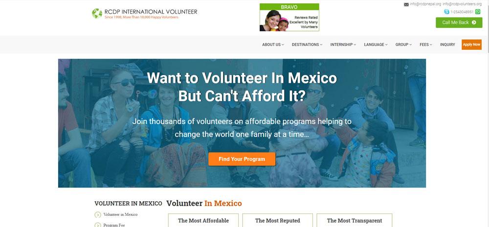 RCDP International Volunteer Mexico