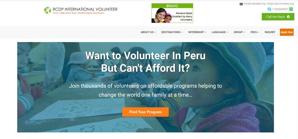 volunteer in Peru with RCDP Volunteer