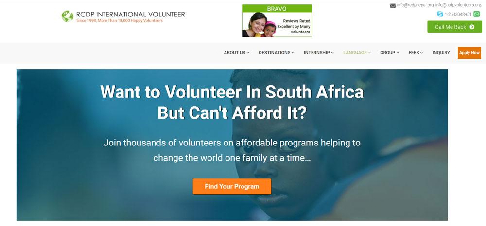 volunteer in South Africa with RCDP Volunteers