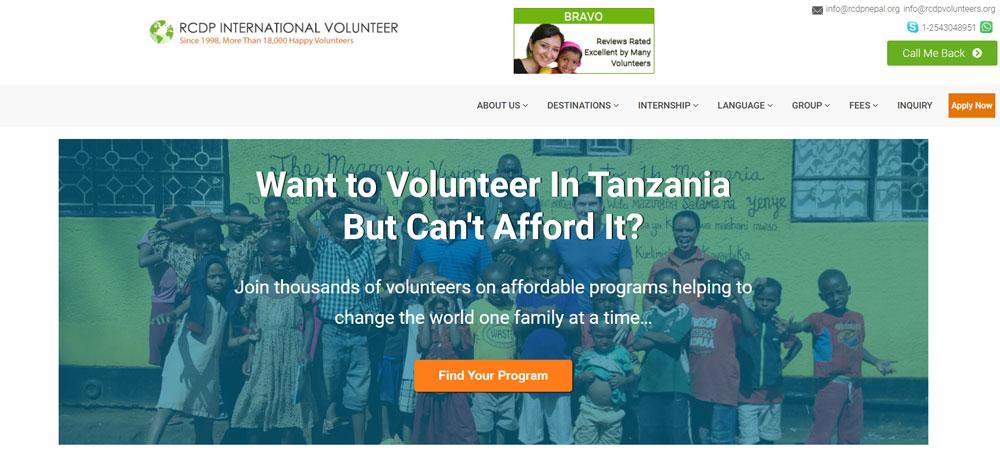 RCDP International Volunteer Tanzania