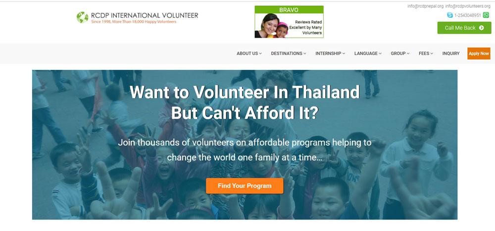 volunteer in Thailand with RCDP Volunteers