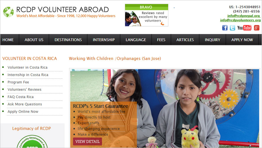 orphanage volunteering opportunities with rcdp