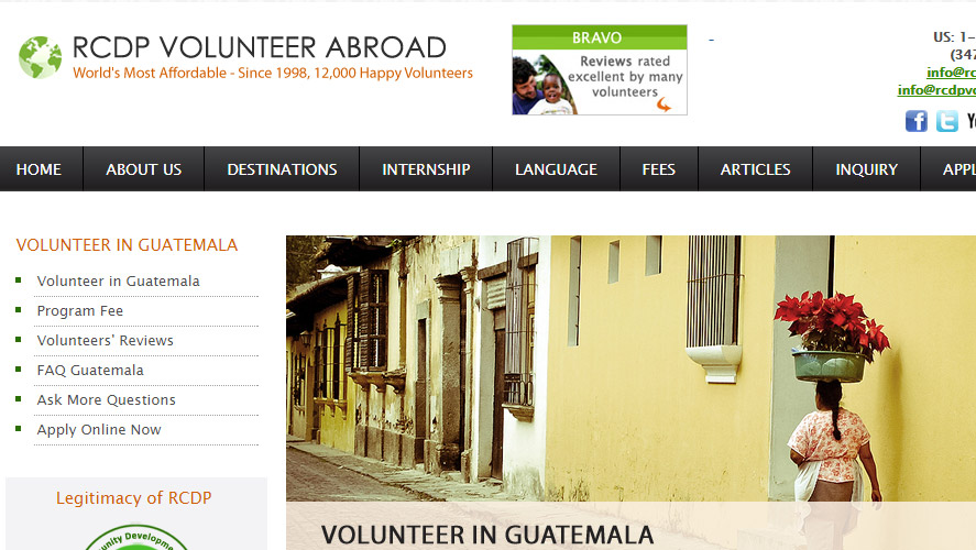 RCDP Cheap Best Volunteer in Guatemala Opportunities