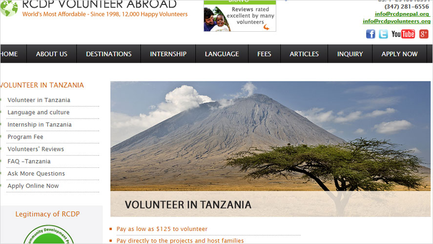 RCDP Cheap volunteer opportunities in Tanzania