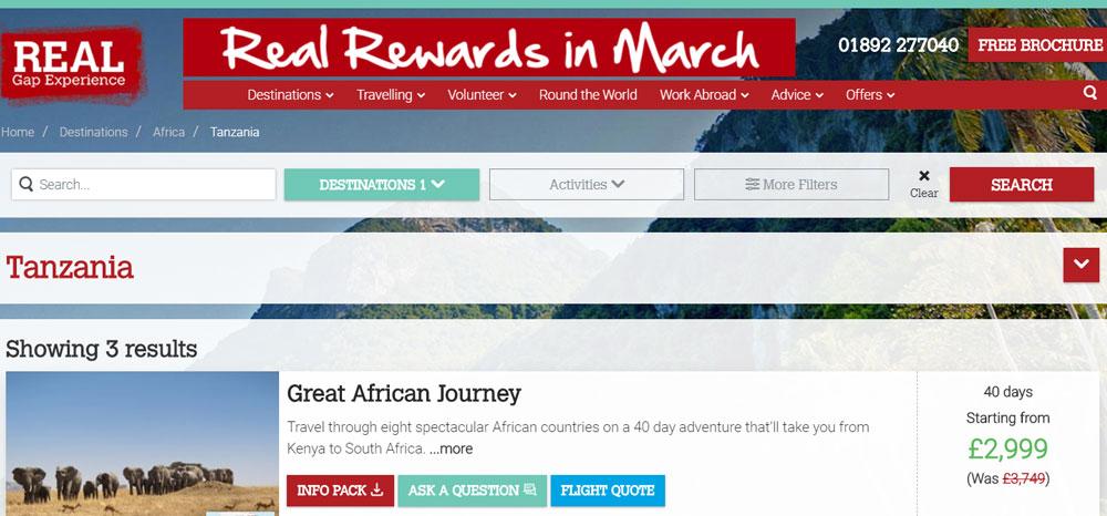 Real Gap Experience Tanzania