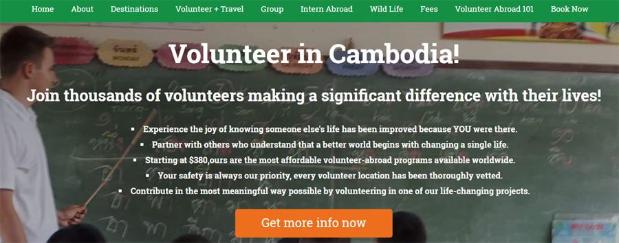 gcr volunteer cambodia projects