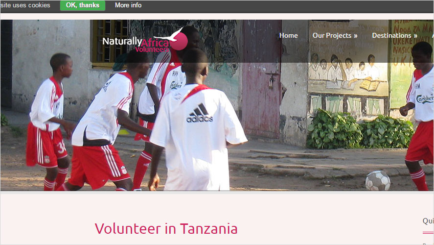 Naturally Africa Volunteer opportunities in Tanzania