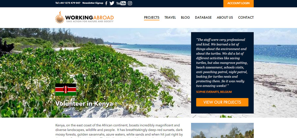 volunteer in Kenya with working abroad