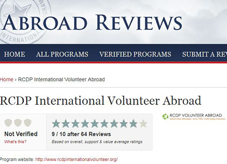 rcdp abroad volunteer review