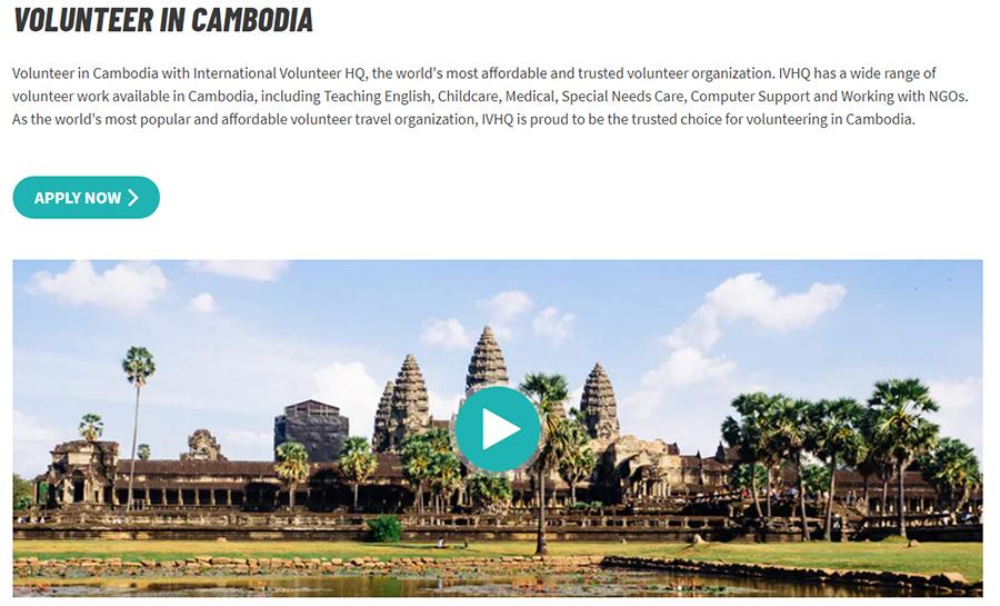 voluneering on orphanage on cambodia