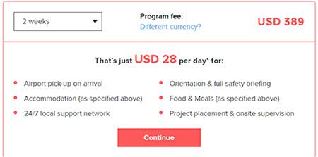 volunteering fee cambodia