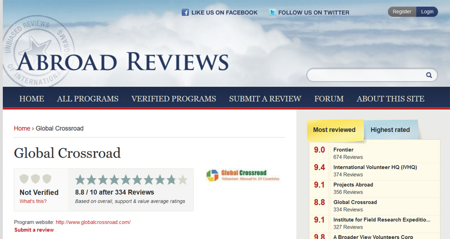 global cross road abroad review