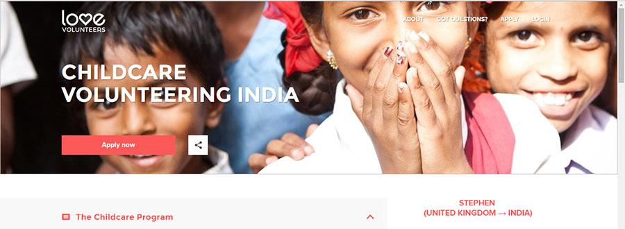 love volunteer orphanage program