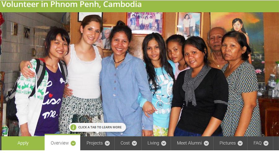 volunteer cambodia on children program