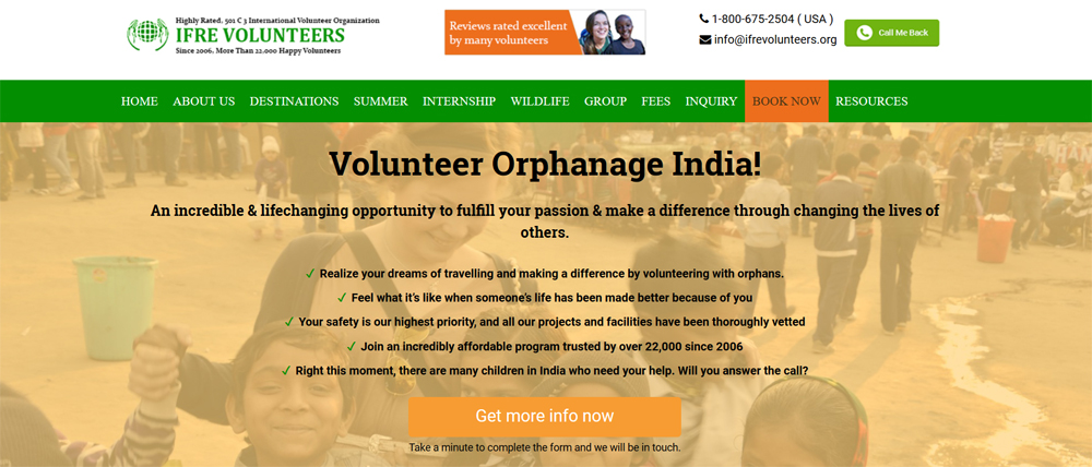 volunteer ifre programs child care project