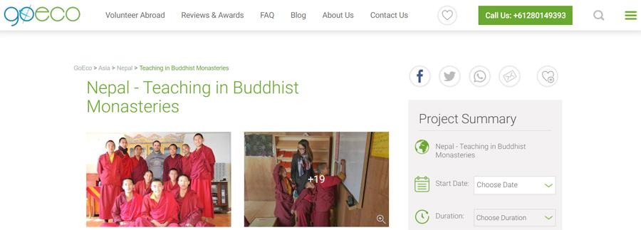 go eco nepal buddhist monastery