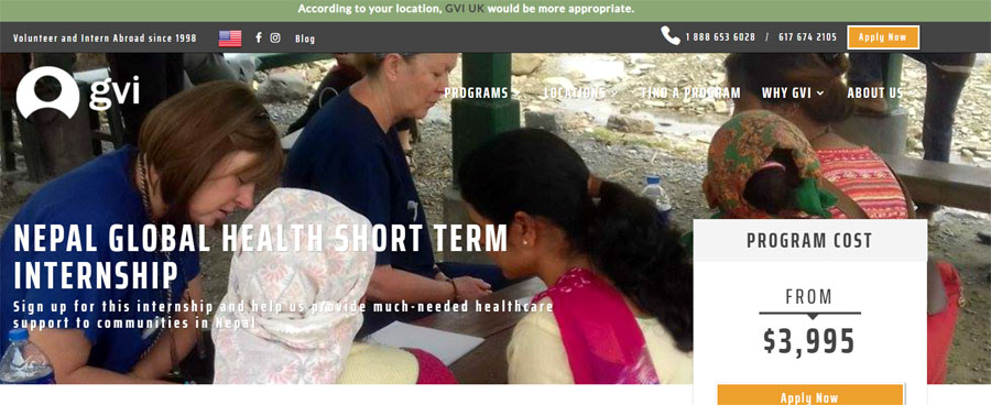 gvi-usa nepal public health project