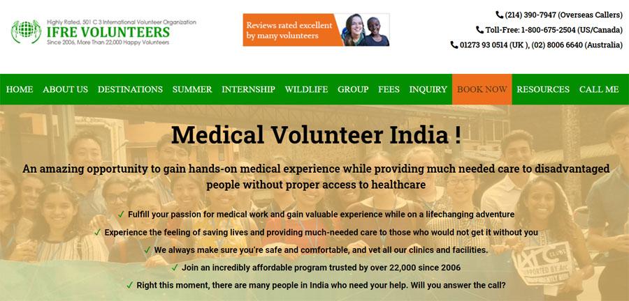 ifre india medical volunteering