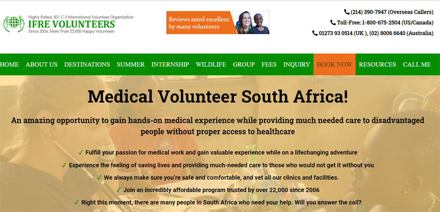 ifre medical project south africa