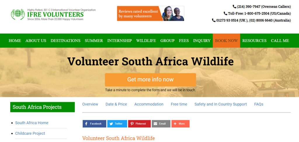 wildlife south africa project